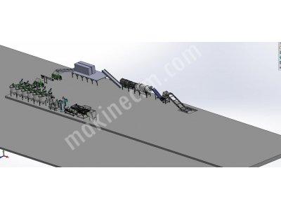 Pet Şişe Geri Dönüşüm Makinaları Saatlik 1500-3000 Kg Kapasiteli
