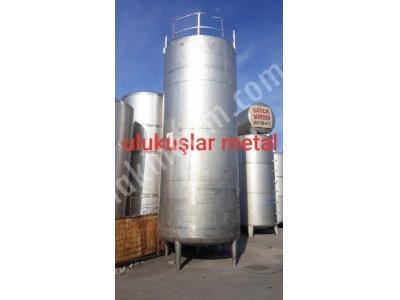 35 Ton 2. El Paslanmaz Tank Krom Gıda Depolama Çelik Tankı