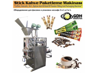 Stick Nescafe,3Ü1 Arada,2Si1 Arada,süt Tozu Paketleme Makinesi
