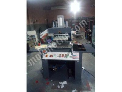 Baskı Makinası Gofre  Yaldız Varak Baskı Kabartma Baskı Makinesi Karton Kutu Yaldız Baskı