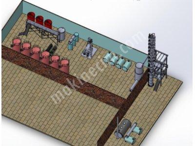 Atık Motor Yağı Geri Dönüşüm Tesisi / Atık Motor Yağı Geri Dönüşüm Makinesi