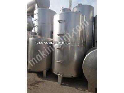 Paslanmaz Mazot Yag Su Süt Depolama Stok Tankları