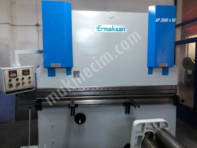 Ermaksan Abkant Pres 80 Ton 2600 Mm Boy Model 2003