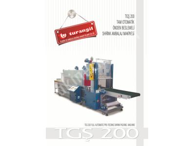 Tgsokb60 Tam Otomatik Önden Konveyör Beslemeli 60X45 Tünelli Shrink Ambalaj Makinesi