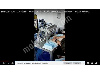 Ultrasonik  Maske Lastiği Kaynak Makinesi