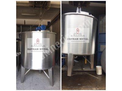 Paslanmaz Karıştırıcı Mikser Tank Kimya Kozmatik Gıda Su Deposu Depo Şanpuan Dezenfekten