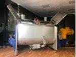 2.el Paslanmaz Mikser,karıştırma Tankı,1500 Lt,paletli Mikser,hijyenik Gıda Ve Kozmetik Mixer