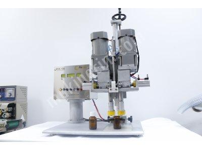 Yarı Otomatik Sprey Kapak Kapatma Makinası  ( Yerli Üretim)