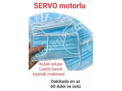Servo Motorlu, Maske Gövdesi Kulak Bandı Kaynak Makinesi, Omatik Besleme 60 Ad.dak. Usd 26.500+Kdv