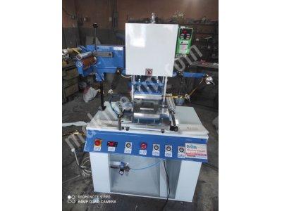 Peçete Üzerine Yaldız Varak Gofre Baskı Makinesi Kağıt Ve Benzeri Ürünlere Yaldız Transfer Makinesi