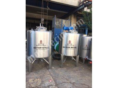 Paslanmaz Karıştırıcı Mikser Kazan Tank Kımya Kozmatık Parfüm Kazan Depo Su Gıda Şanpuan Mıkser