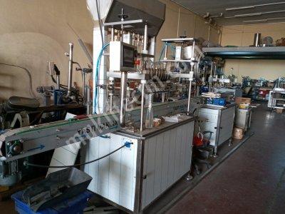 Tam Otomatik Sıvı Dolum Makinası-Kapaklama-Etiketleme-Tarih Kodlama-Ürüntoplama