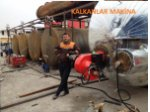 Construction of 100000 liters crude oil distiller