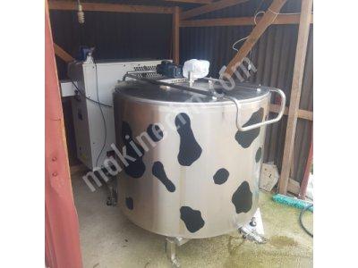 Hesaplı 2000 Lt Süt Soğutma Tankı Dikey Tip Otomatik Yıkamalı