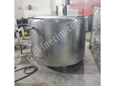 Buharlı Süt Pişirme Tankı 2000 Lt