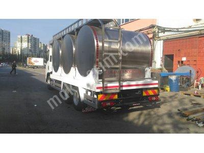 Araç Üstü Süt Taşıma Tankı 1000 Lt Tek Cidarlı