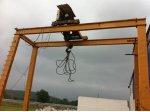 20 Ton Gezer Portal Vinç Kaldırma Kapasitesi 20 Ton Yükseklik 7 Mt Teker Merkezi 8 Mt